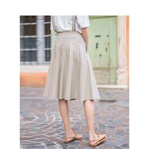 Image 3 - Inman verão cintura alta magro retro coreano moda estudante estilo tudo combinado a linha saia cinta feminina