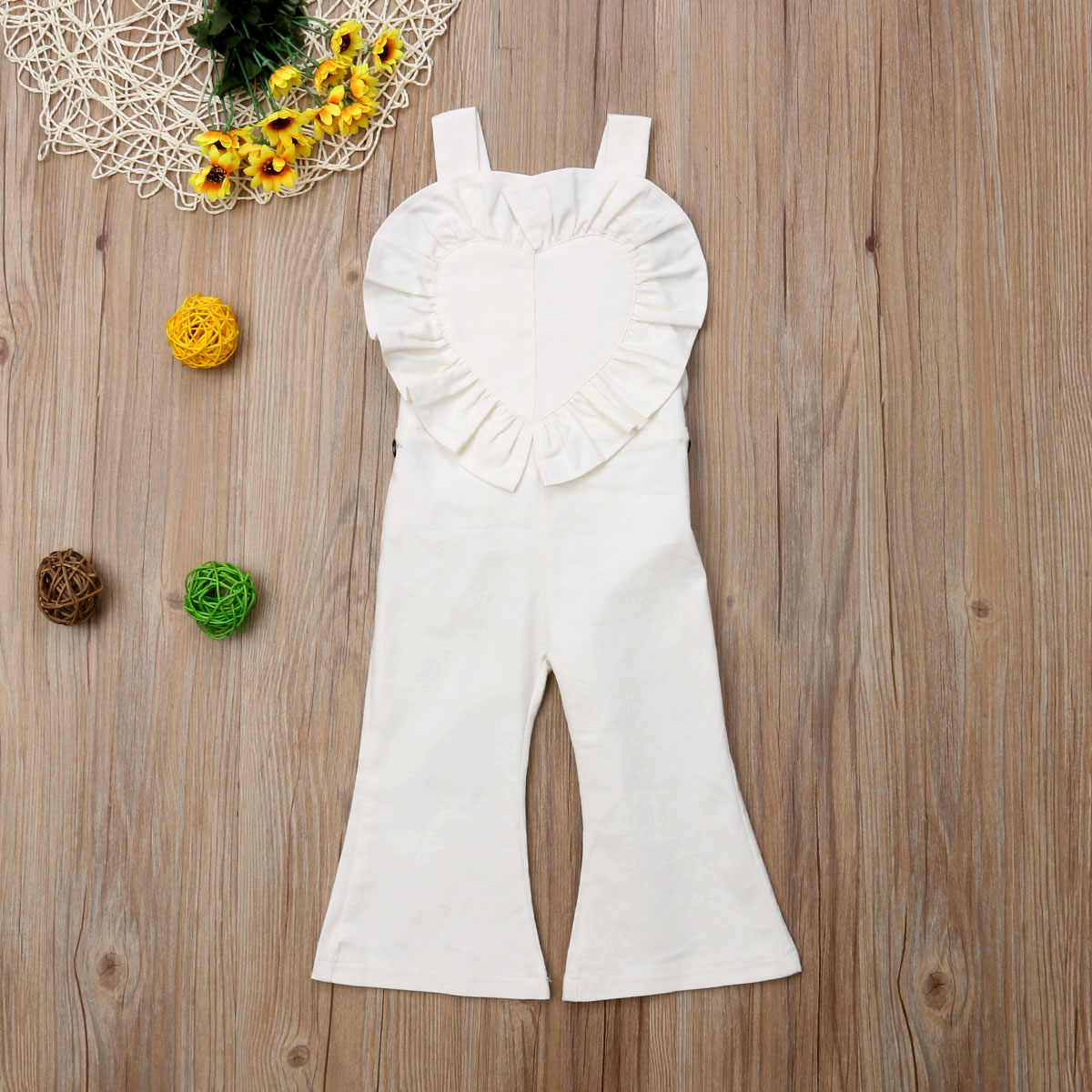 f218694d370 ... 2018 Fashion Kids Baby Girl Romper Jumpsuit Ruffles Overalls Romper  Jumper Bell Bottom Trousers Summer Autumn ...