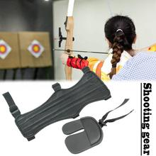 New Super-double-sided Fabric Bow And Arrow Arms Archery Fingers Shooting Protective Gear Recurve Bow Armguard Finger Set camo archery bow pocket arrow bag recurve bow case soft plush fabric to protect recurve bow armguard arrow puller tools