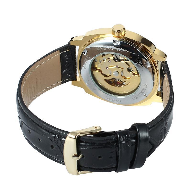 Winner Royal Diamond Design Black Gold Mechanical Watch Montre Homme Mens Watches Top Brand Luxury Relogio Male Watch 4