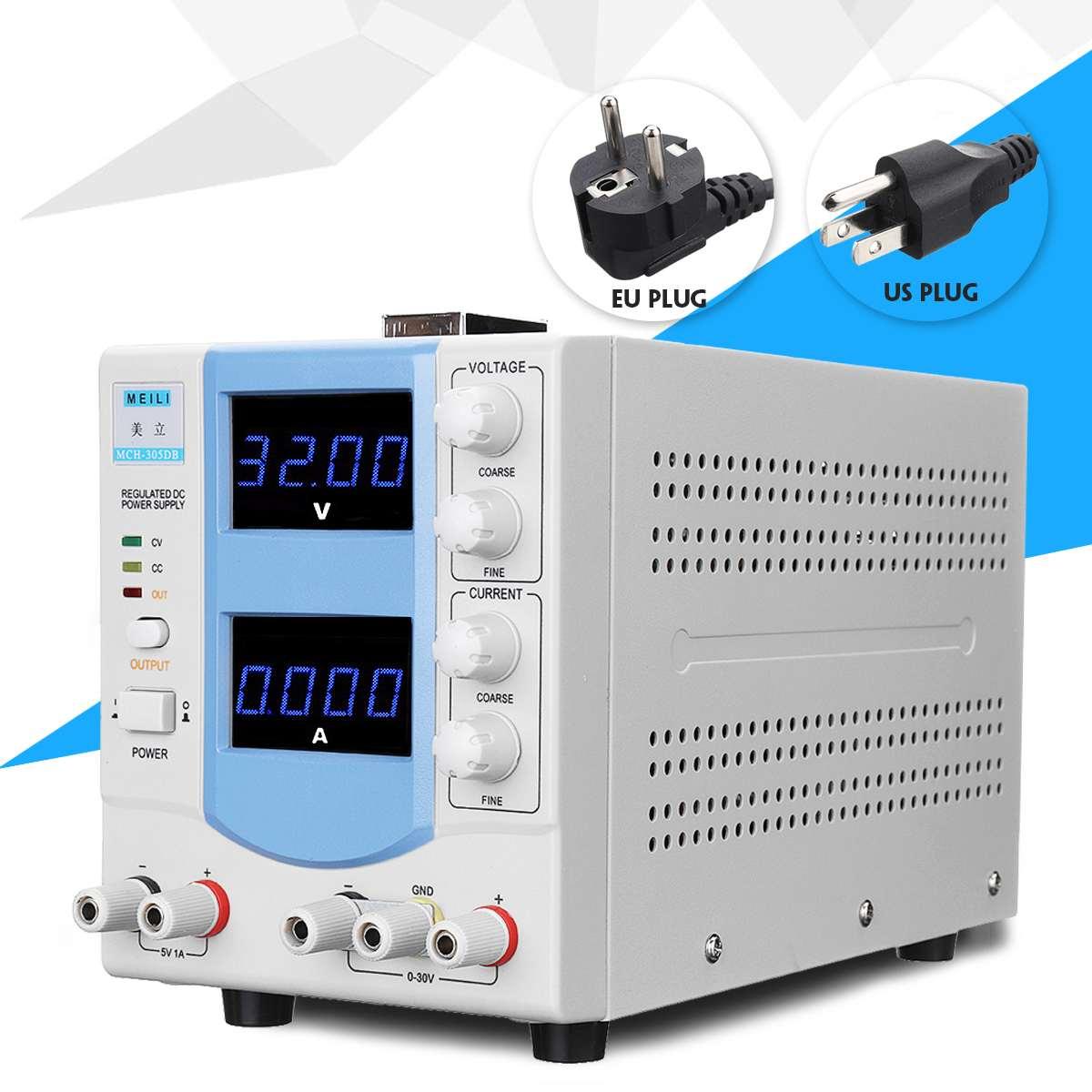 30V 5A Precise Voltage Regulators Digital LED DC Power Supply Adjustable Regulator 110V/220V Portable Power Supply