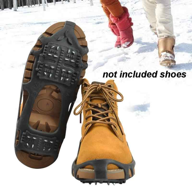 8ccc6e51377 Detail Feedback Questions about Winter 24 Teeth Walking Anti slip Shoes Ice  Gripper Ice Claw Snow Shoe Cover Outdoor Eco friendly TPE Black Shoe  Accessories ...