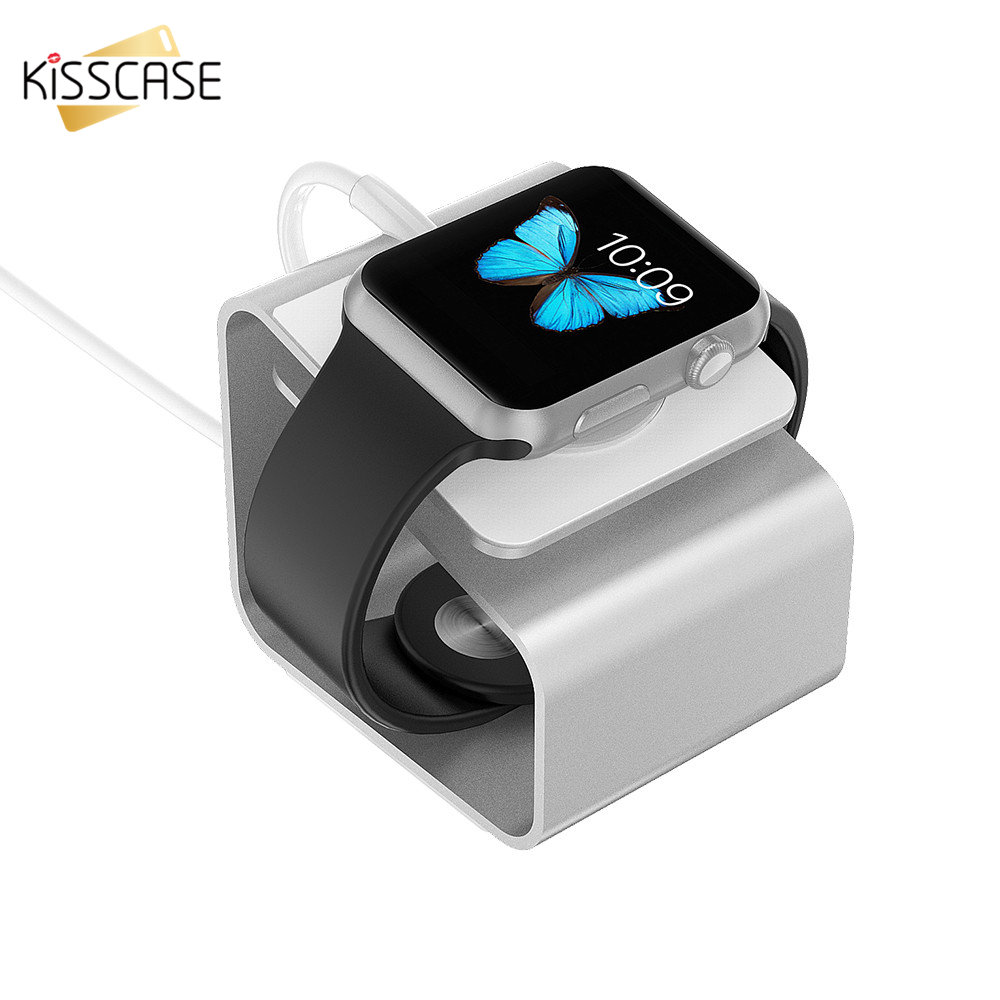 Mobile Phone Accessories Conscientious Kisscase Desk Stand Holder For Apple Watch Aluminum Alloy Portable Stand For I Watch 42mm 38mm With Charging Dock Station Holder Attractive Appearance