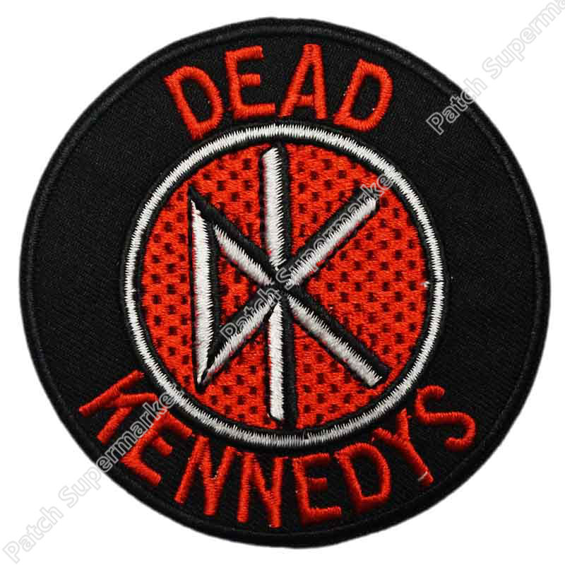 DK Dead Kennedys Circular Brick Logo Patch Hardcore Music Band Heavy Metal Iron On Patch MOTIF