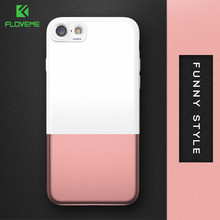 FLOVEME Fashion Phone Cases For iPhone 7 6 6s Plus Case Hit Color Smooth Skin Ultra Slim Bag Detachable Back Cover Fundas