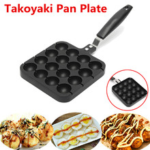 Warmtoo 16-Holes Takoyaki Pan Plate Home Kitchen Cooking Baking Mold Octopus Ball Maker