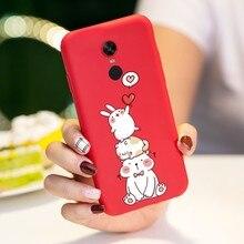 Cute Rabbit Cover For Xiaomi Redmi 5 Case Cartoon Pattern 3D Relief 6 Pro Funda Shockproof Bumper Coques