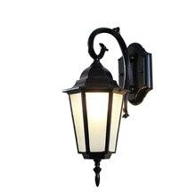 Lámpara de pared para apartamento al aire libre, luces de pared de Villa y jardín, lámpara Jardín Europeo de balcón, lámpara de pared impermeable, lámpara hexagonal Retro para exteriores