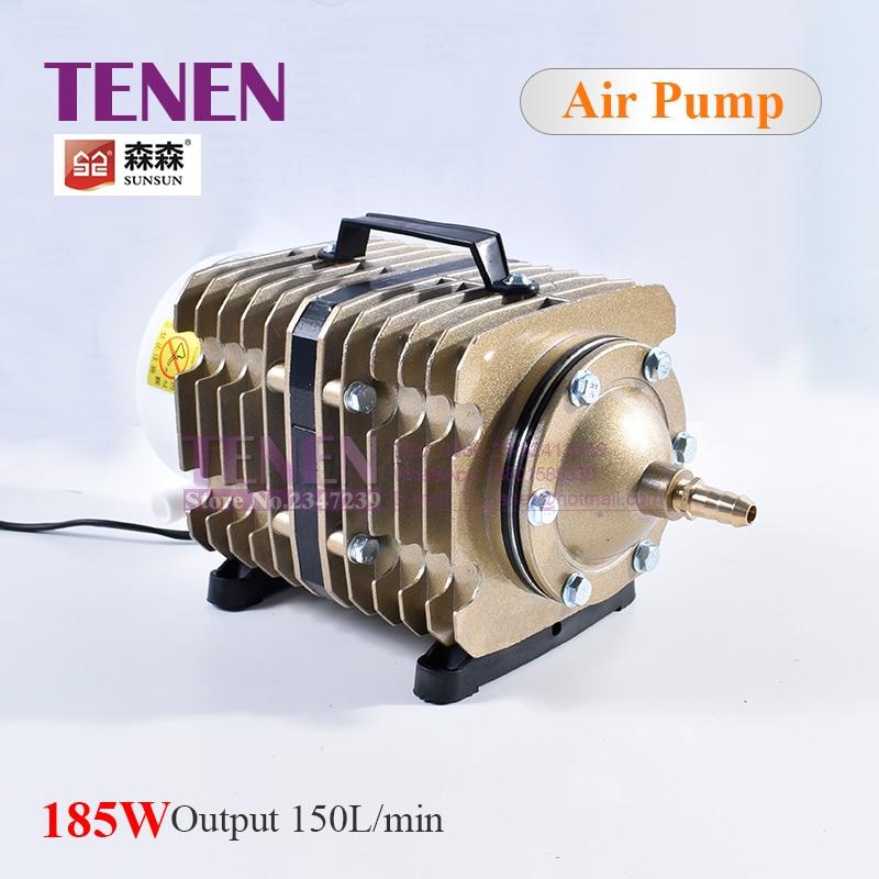 220V 185W 150L/min Electric Magnetic Air Compressor SUNSUN Air Pump ACO 012 For Laser Machine Ash Remove Aquarium Fish Farming