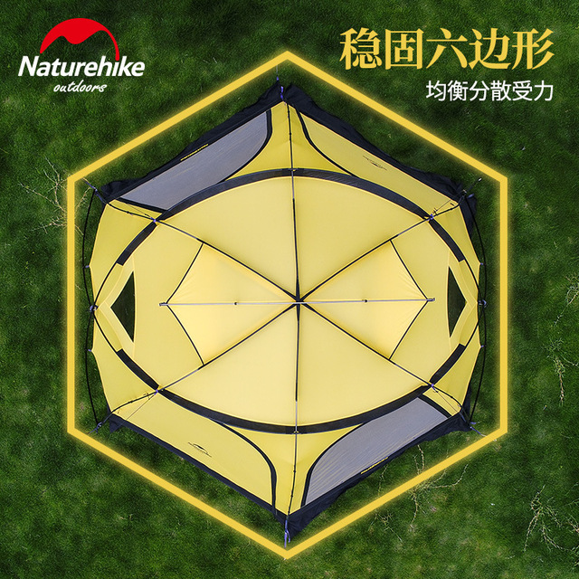 Naturehike Fallstreak Hole Super 4-6 People Tent Outdoors Camp Tent Group Camping Equipment Hexagonal Tent 5