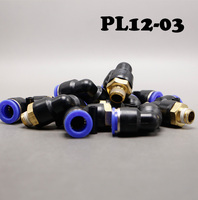 Free Shipping 20PCS/Lots Pneumatic hose quick joint PL12 03 right angle elbow bend.