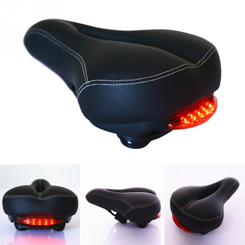 Breathable Outdoor Bicycle Saddle with Taillight Pad Soft Cushion Bike Seat Bicycle Saddle LED Light PU Cycling Equipments #108*