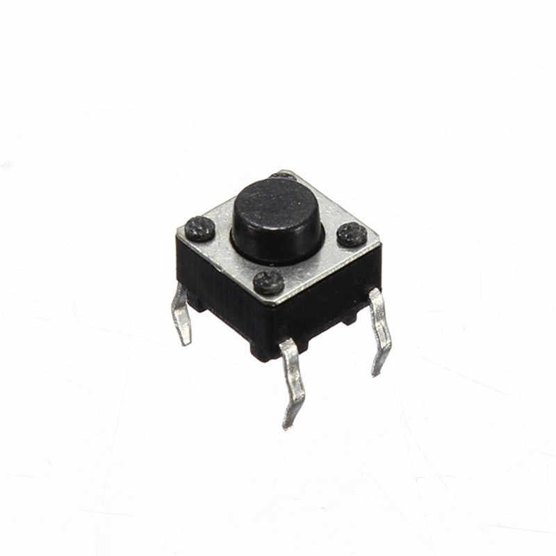 Claire 100 sztuk 4 piny Mini Micro chwilowy dotykowy dla w dotyku przełącznika Push przycisk DIP P4 normalnie otwarty