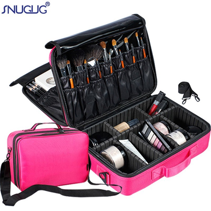 Storage-Case Cosmetic-Bags Makeup-Organizer Professional Multilayer Travel Large-Capacity