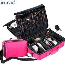 Mulheres saco de maquiagem profissional grande capacidade sacos cosméticos à prova dwaterproof água caso de armazenamento funcional viagem multicamadas organizador de maquiagem