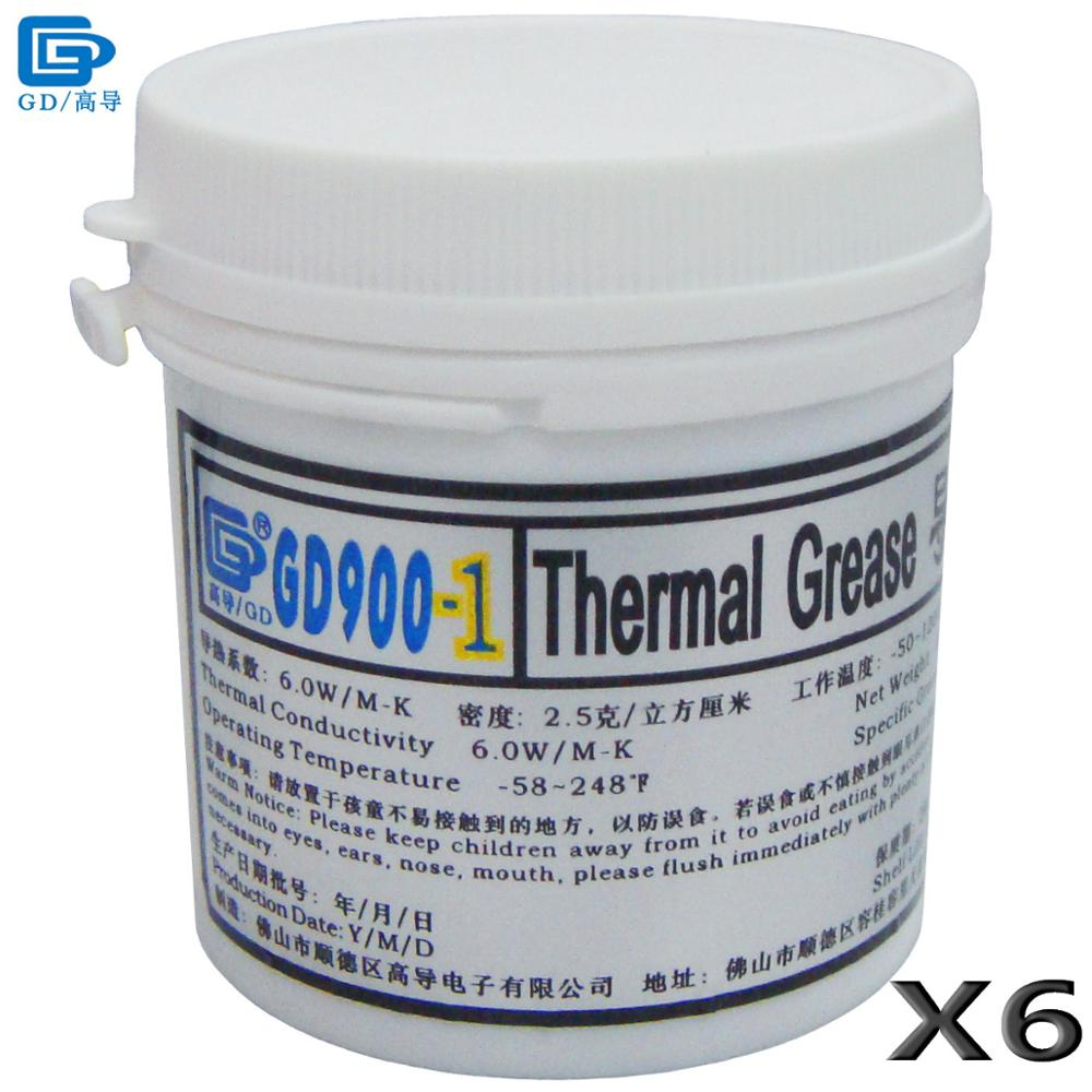 GD Brand Thermal Grease Paste Silicone GD900-1 CPU Heat Sink Compound 6 Pieces Gray Containing Silver Net Weight 150 Grams CN150 gc sport chic x70030l1s