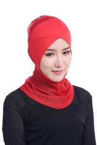 Image 4 - ใหม่ล่าสุด CHIC LADY Modal Hijab ฤดูร้อนผู้ใหญ่ผ้าพันคอ Hijabs อิสลามหมวก Bonnet นินจาคอมุสลิม Underscarf