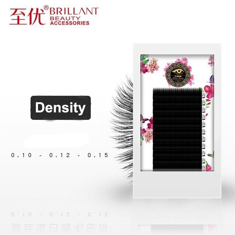 BRILLANT Thick Volume Rounded Grafting Eyelashes Circle Nature Beauty Salon Plant Single Classic Density Parallelism Mink Soft in False Eyelashes from Beauty Health
