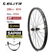 DT Schweizer 350 Serie 29er Carbon MTB Rad Licht Gewicht China Carbon Rim 370g Nur Für XC AM Berg bike Laufradsatz Sapim Speichen