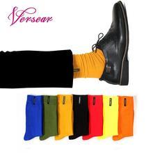 Versear Fashion Crew Winter Men Socks Week Letter Applique Business Casual Happy Socks Warm Soft Christmas