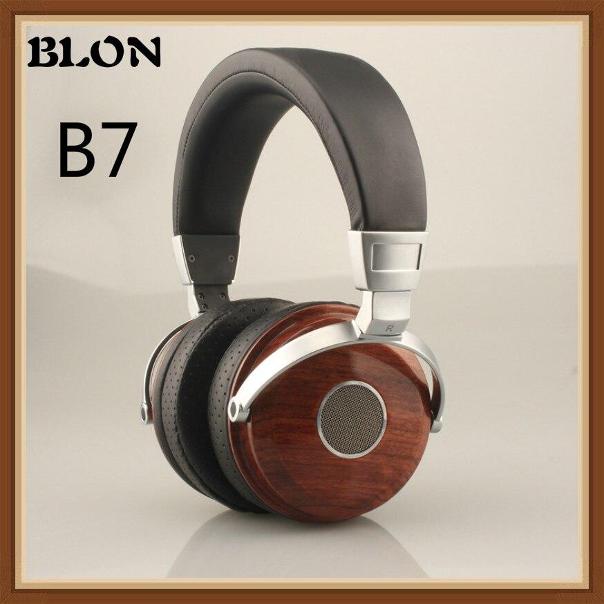 Blon B7 Walnut Wooden HiFi Headphone Over Ear HiFi Beryllium Alloy Driver Metal Wood Monitor Headset