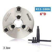 SANOU K11 160A токарные станки Зажимы 3 челюсти 160 мм самоцентрирования и Реверсивный челюсти запчасти