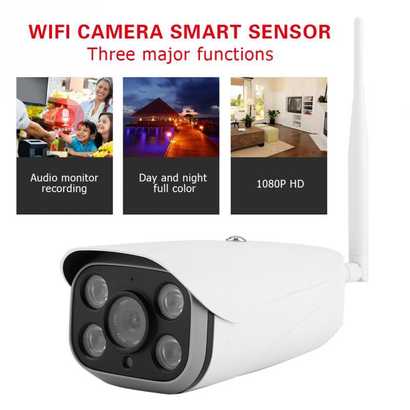 200 W 1920x1080 P caméra panoramique IR Extérieure caméra de sécurité Système 4LED Étanche Wifi Smart Sensor Pour La Maison caméra de sécurité
