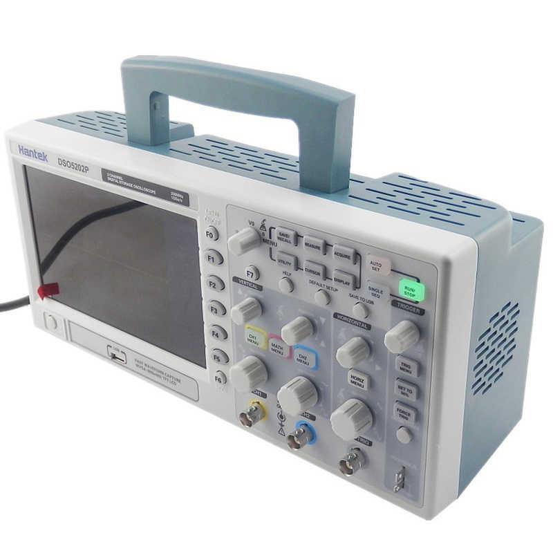Hantek DSO5202P Oscilloscope de stockage numérique USB 200 MHz bande passante 2 canaux 1GSa/s 7 pouces TFT LCD PC longueur d'enregistrement 40 K