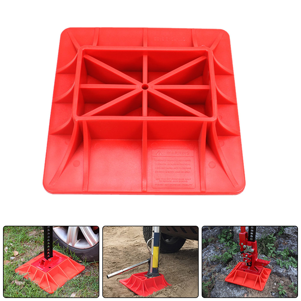 New Offroading Gear Base For Hi Lift Jack PP Hoisting Sinkage Alleviate Jack Hoisting Sinkage Offroad Tough Base Plate 290x290mm