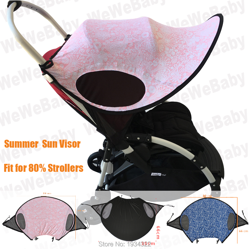 Sun Shade for Baby Strollers Widen Sun/&Rain Shade Cover Anti-UV Umbrella Canopy Universal Fit for Pram Black Very affordable and useful of Accessories