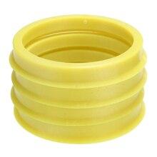 4 pcs 66.6 à 57.1mm jaune en plastique roue Center collier moyeu central anneau roue jante pièces accessoires de voiture universel pour toutes les voitures