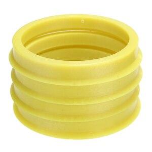 Image 1 - 4 pcs 66.6 à 57.1mm jaune en plastique roue Center collier moyeu central anneau roue jante pièces accessoires de voiture universel pour toutes les voitures