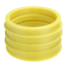 4 sztuk 66.6 do 57.1mm żółty plastikowy krążek centrum kołnierz piasta centryczna pierścień felgi części samochodowe akcesoria uniwersalny dla wszystkich samochodów