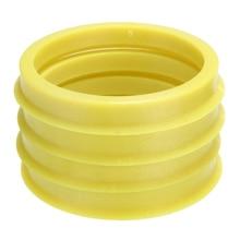 4Pcs 66.6 ถึง 57.1 มม.ล้อเลื่อนพลาสติกสีเหลืองกลางคอ Hub Centric แหวนล้ออะไหล่รถ Universal สำหรับรถยนต์ทั้งหมด