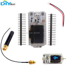 0.96 OLED ESP32 Development Board V2 LoRa Module Wifi Transceiver IOT SX1276 868MHz Antenna 1.25mm JST Battery Connector dstike wifi packet monitor v3 preflashed d duino 32 sd esp32 wrover oled wifi ble iot development kit battery charge esp32