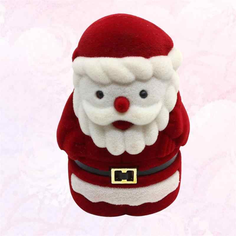 1 st Kerst Kerstman Sieraden Doos Organisator Storage Case voor Oorstekers Oorbellen Haarspeldjes Ketting Armband Broche