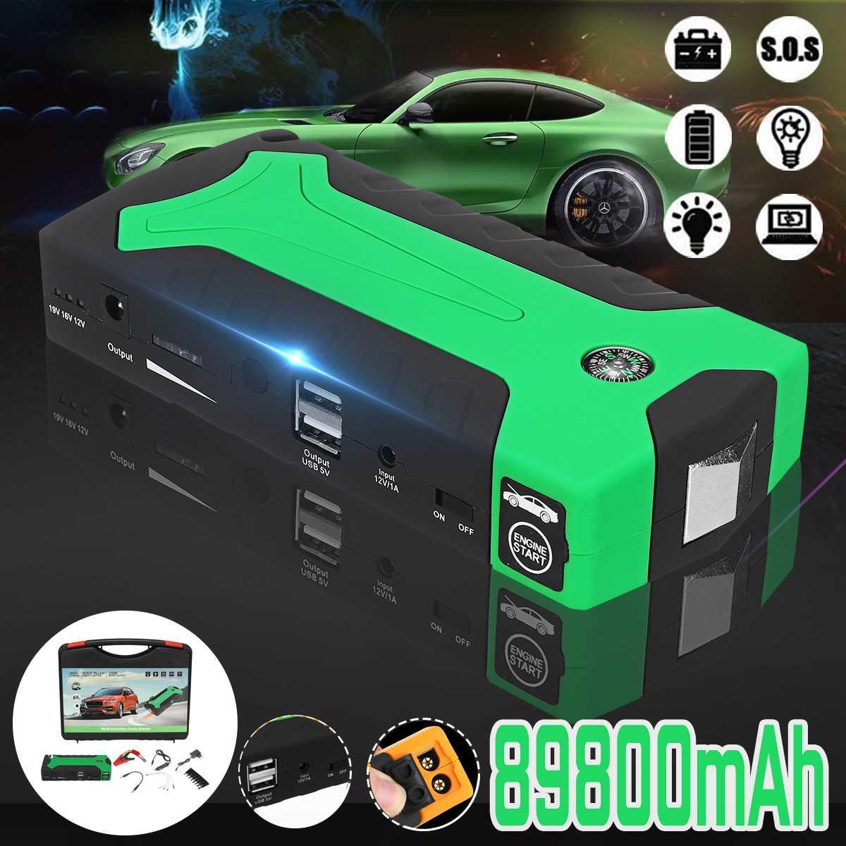 89800mA voiture saut démarreur batterie externe 600A Portable voiture batterie Booster chargeur 12 V dispositif de démarrage essence Diesel voiture démarreur