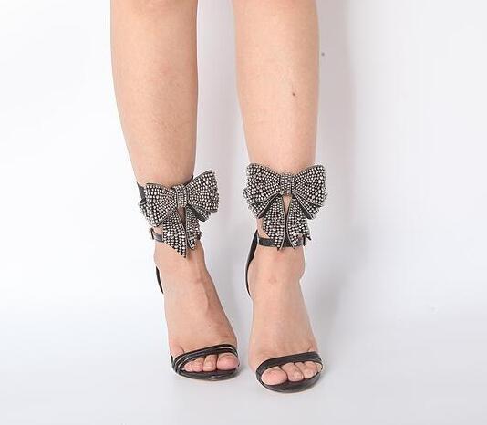 Cheville Arc De Femmes Nouveautés Boucles Concise pink Black En Hauts Strass Talons Dames Chaussures Soirée Summer Style Sandales Cuir Mode Noir kXuTZiOP