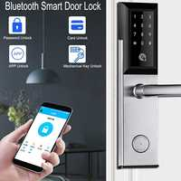 Security Electronic Door Lock APP WIFI Bluetooth Smart Screen Lock, Digital Code Keypad Deadbolt For Home Hotel Apartment