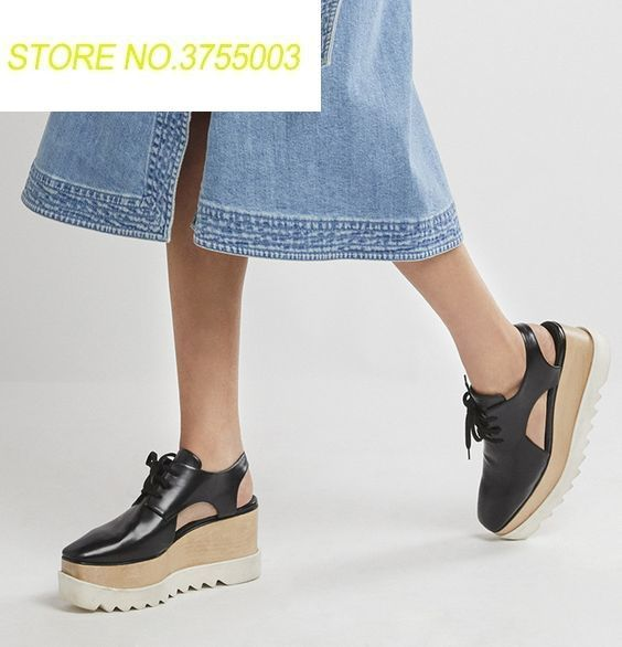 cfa67b04a50b 2018 Leather Platform Brogues Cutout Elyse Flatform Sandals Women Shoes  Fashion 2018 Summer Shoes Woman Sandalias Mujer