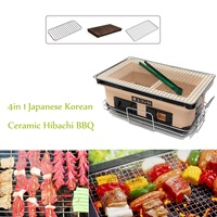 40x25 см 3in 1 Японский Корейский Керамика Hibachi барбекю Настольный гриль якитори уголь для барбекю трепел Figuline Пособия по кулинарии плита