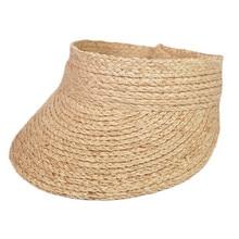 ladies uv roll up korean sun visor hat women sun visor straw raffia sun visor caps straw visor цена 2017