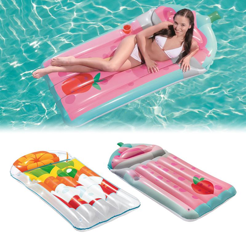Adultes natation flotte grande eau 2019 nouveau lit gonflable plage vacances fruits eau lit flottant matelas gonflable