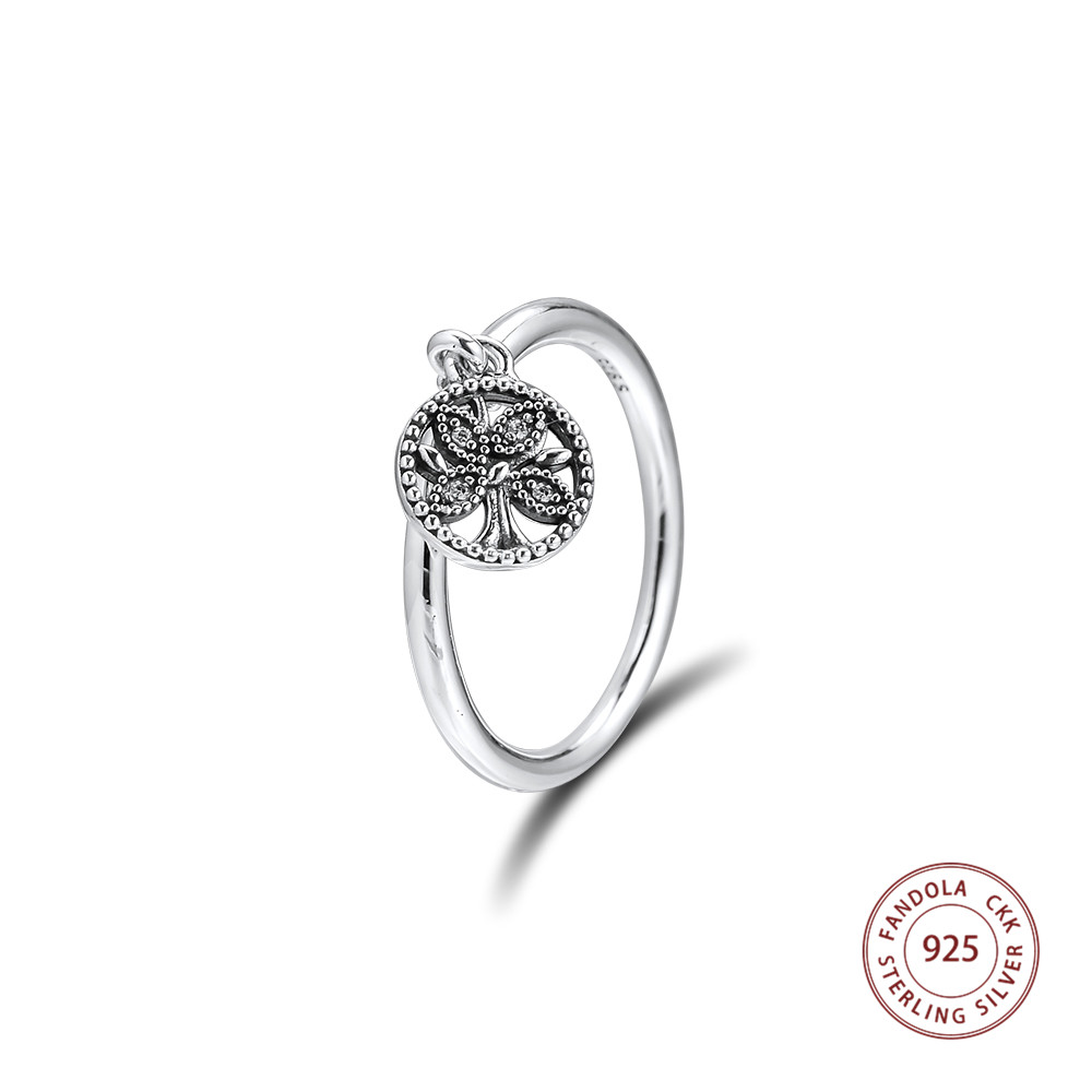 Authentic 925 Sterling Silver Tree Of Life Rings For Women Wedding Bague Femme Ring Original Jewelry Girl Lovers' Gift