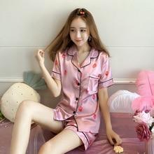 Plus Size 5 XL Sleep Lounge Women Pajamas Set With Shorts Cu