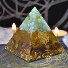 Aura Crystal Chakra Orgone Energy Converter Orgonite Pyramid Soothe The Soul Decoration Changing The Magnetic Field Of Life