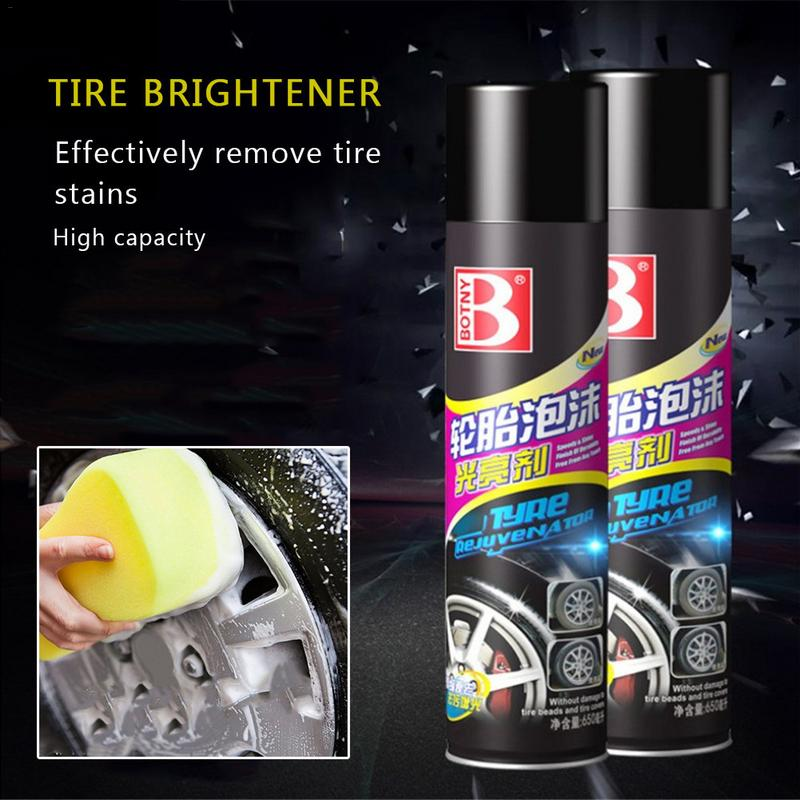 Selfless 650ml Tyre Gloss Spray Tire Glazing Keep Tire Black Rubber Protective Auto Tires Coating Agent Kit Coating Agent Wax Dropship Beneficial To Essential Medulla Engines & Engine Parts