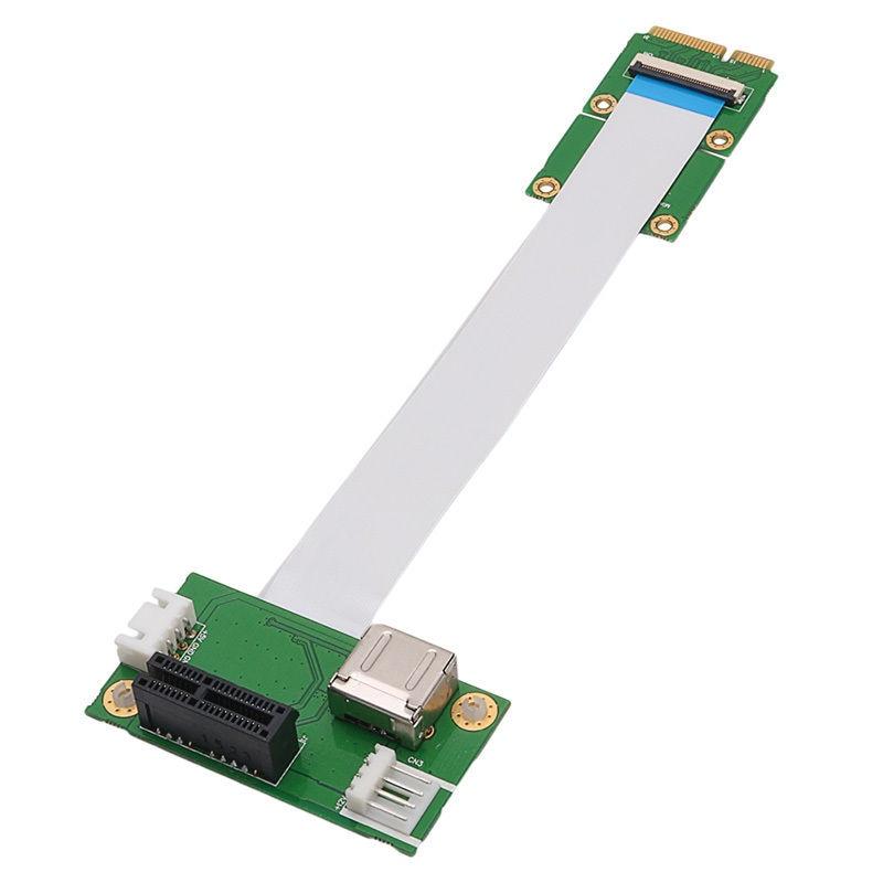 Mini Pci-E a Usb Pci-E Express 1X tarjeta adaptador extensor de aumento + Cable Fpc de 15/25 Cm