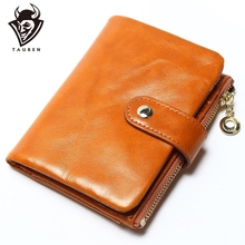 2015 Brand Design High Quality Women Genuine Leather Vintage Wallet Cowhide Coin Purse Oil Waxing Purses Zipper Pocket Wallets  new arrival high quality leather wallet oil wax cowhide billfold women s genuine leather purse long zipper wallets coin pocket