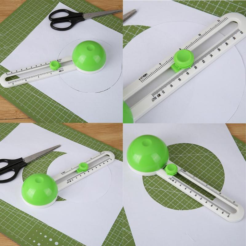 Circle Cutter Round Cutting Knife Model Patchwork Compass Circle Cutter Circular Paper Scrapbooking Cards Cutters